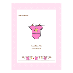 Baby Shower Guest Book Printable Scrapbook Example - Pink