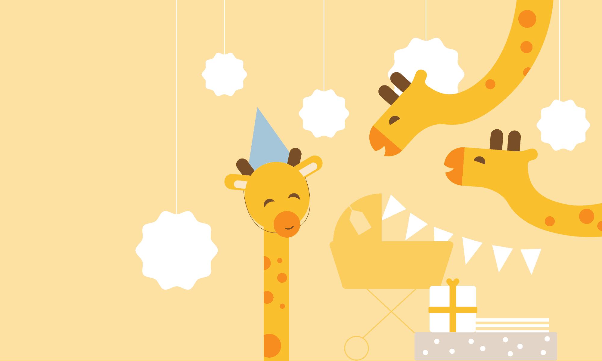 wbs hd giraffe yellow 2000 | baby shower online planner | WebBabyShower