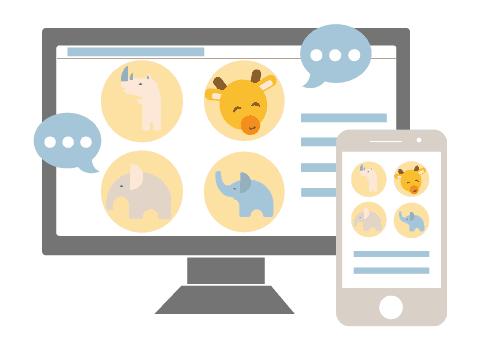 wbs video chat 480 w | online baby shower | WebBabyShower