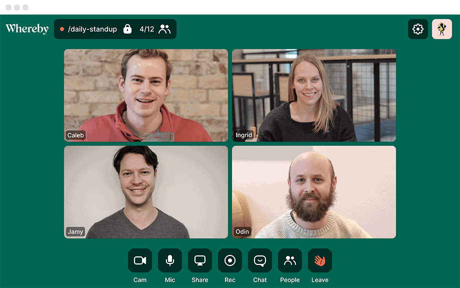 webbabyshower whereby video chat