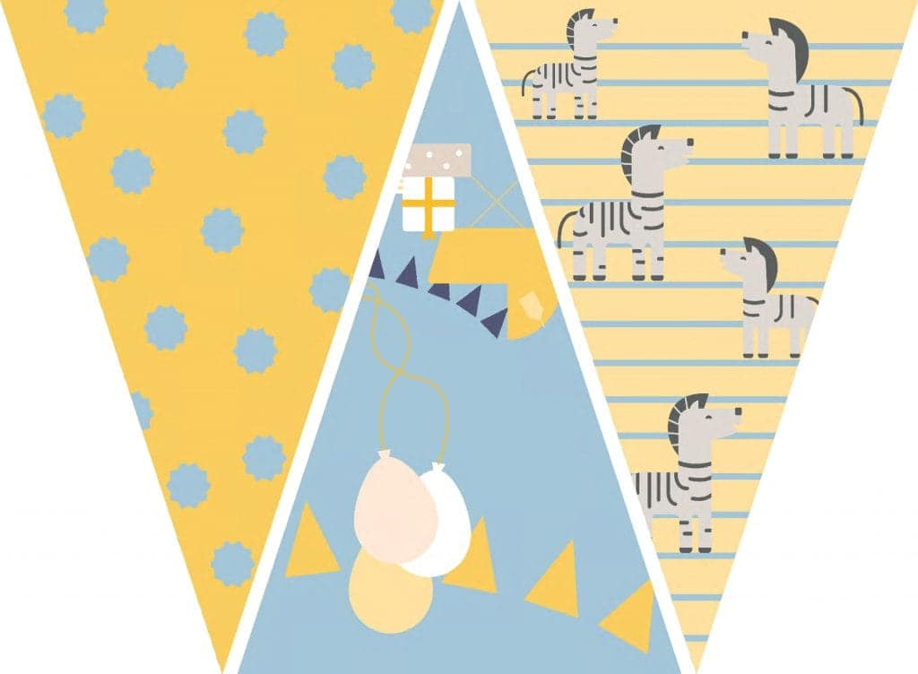 WebBabyShower Printables Party Flags Graphics 1