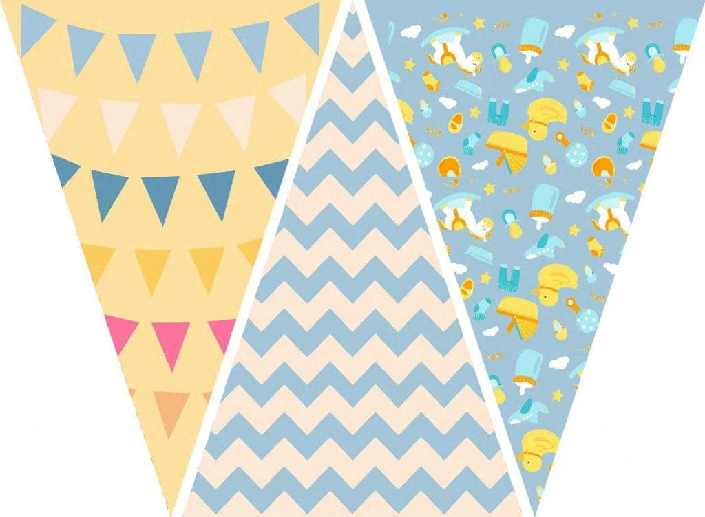 WebBabyShower Printables Party Flags Graphics 10
