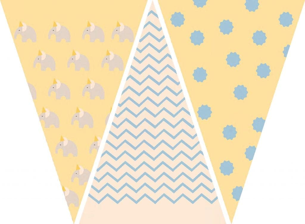 WebBabyShower Printables Party Flags Graphics 4