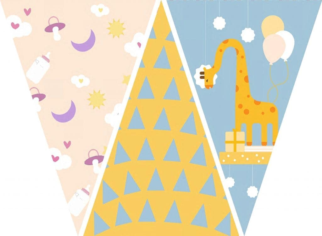 WebBabyShower Printables Party Flags Graphics 5