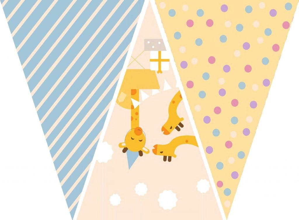 WebBabyShower Printables Party Flags Graphics 6