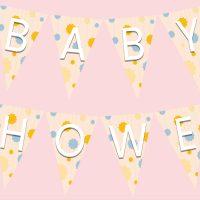 WebBabyShower Printables Bunting Flags pink lt