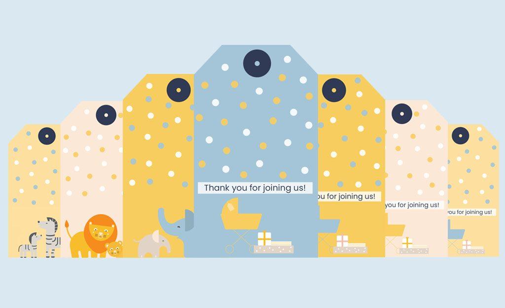 WebBabyShower Header Image Gift Tag