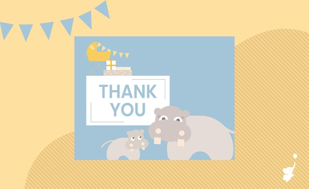WebBabyShower Header Image Thank You Cards