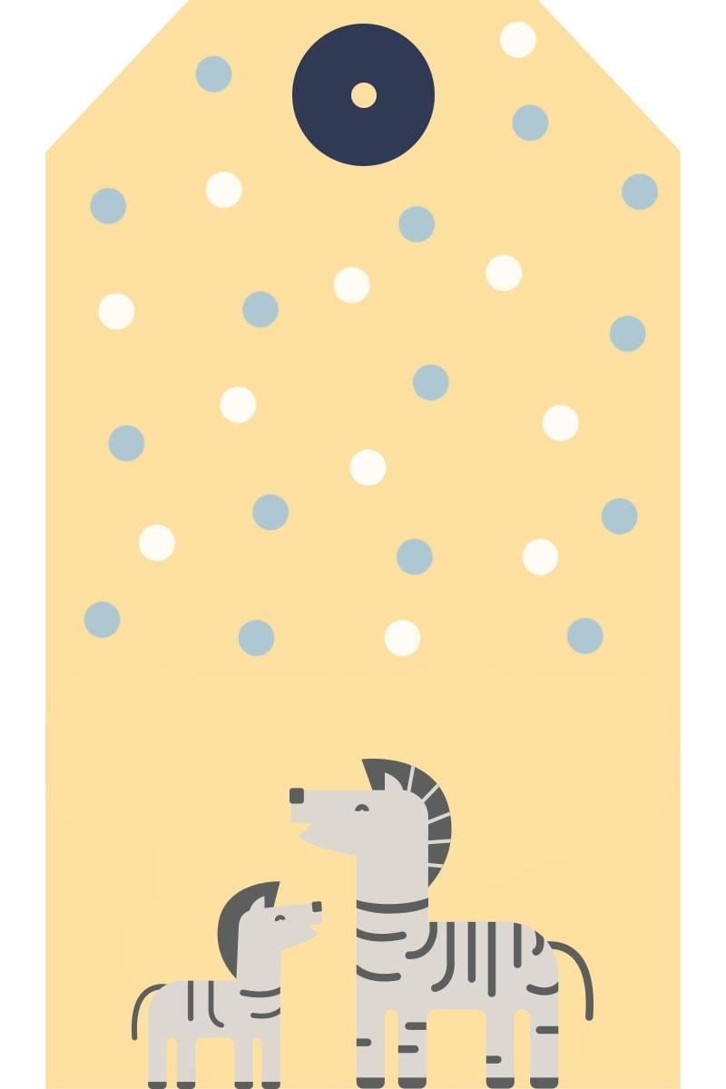 WebBabyShower Printables Gift Tag Zebra