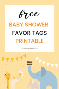 wbs pin printable favor tags | Baby Shower Favor tag | WebBabyShower