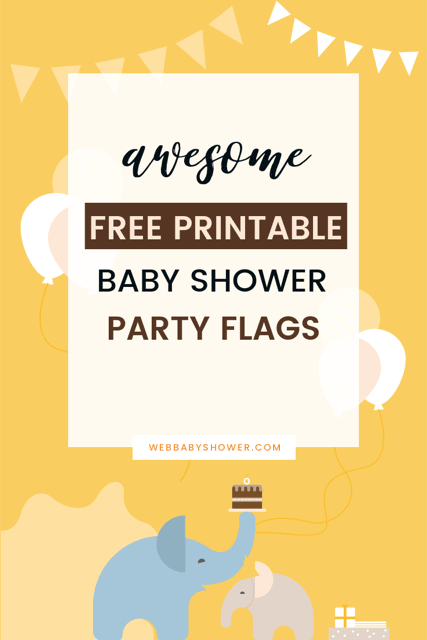 wbs pin printable party flags | baby shower bunting | WebBabyShower
