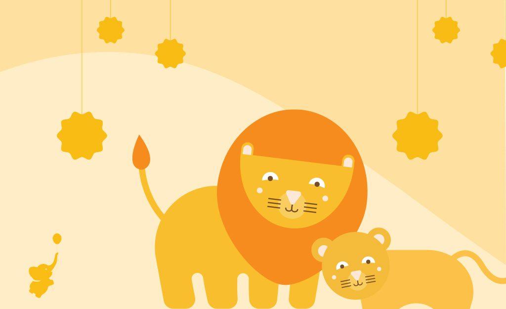WebBabyShower lion header image famous father Games