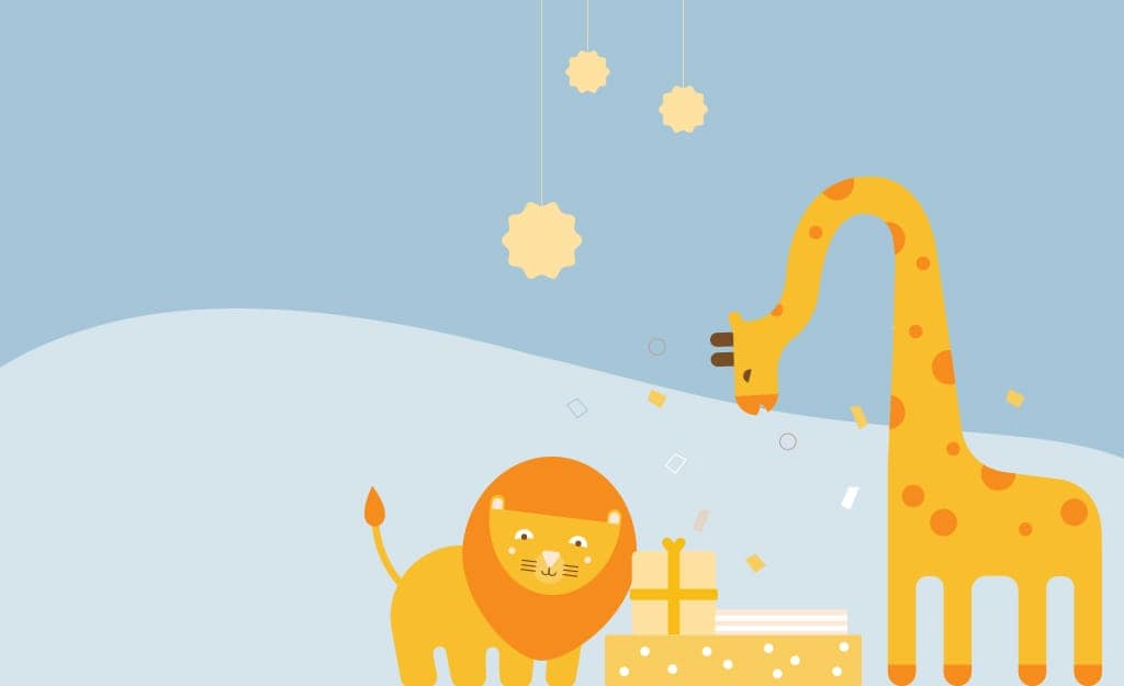 WebBabyShower Giraffe Lion