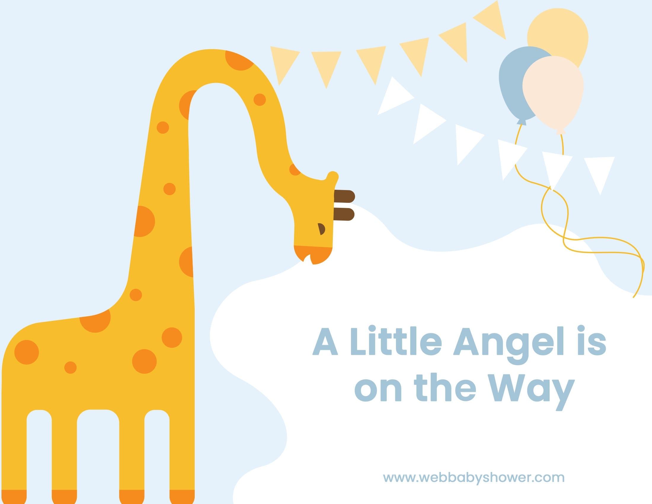 giraffe invitation blue | WebBabyShower