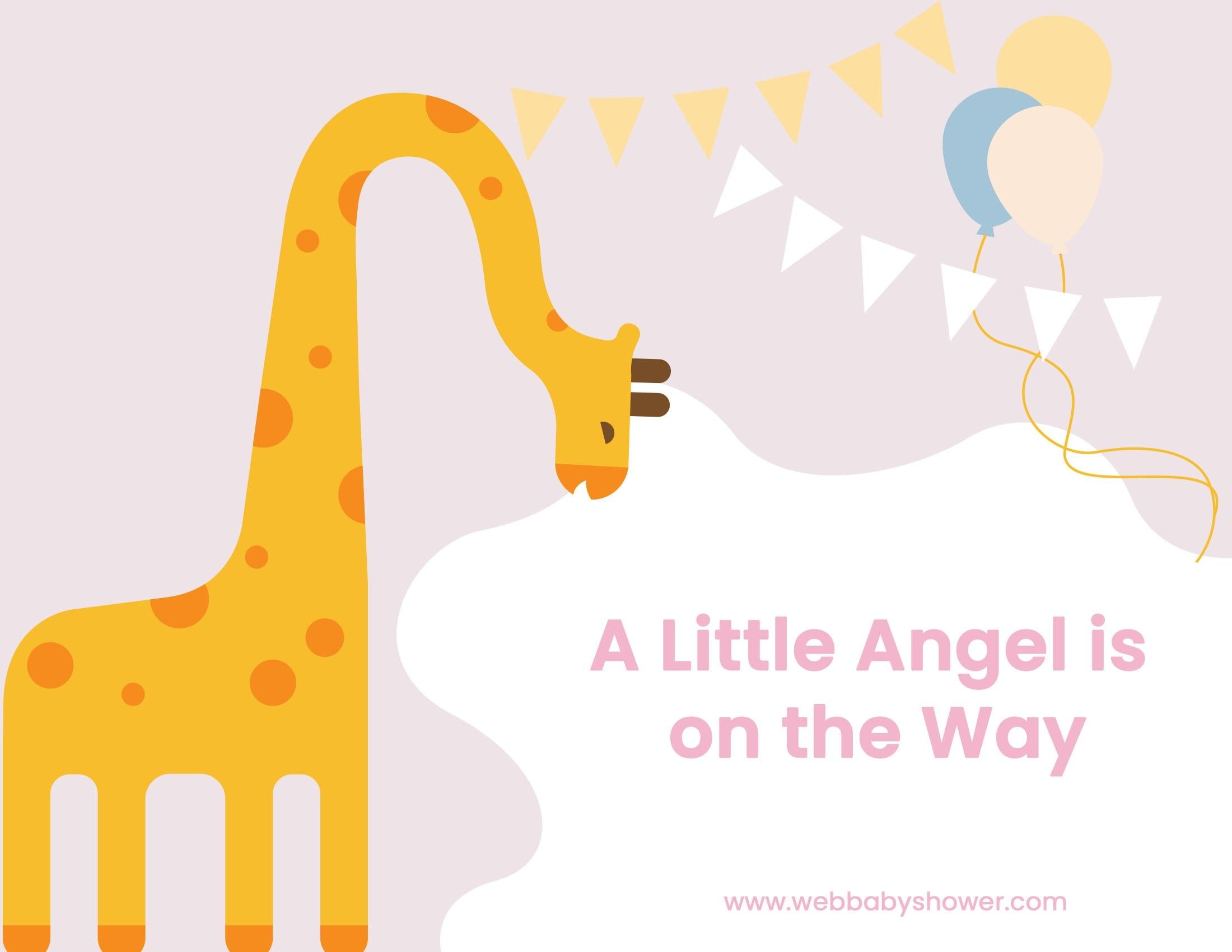 giraffe invitation pink | WebBabyShower
