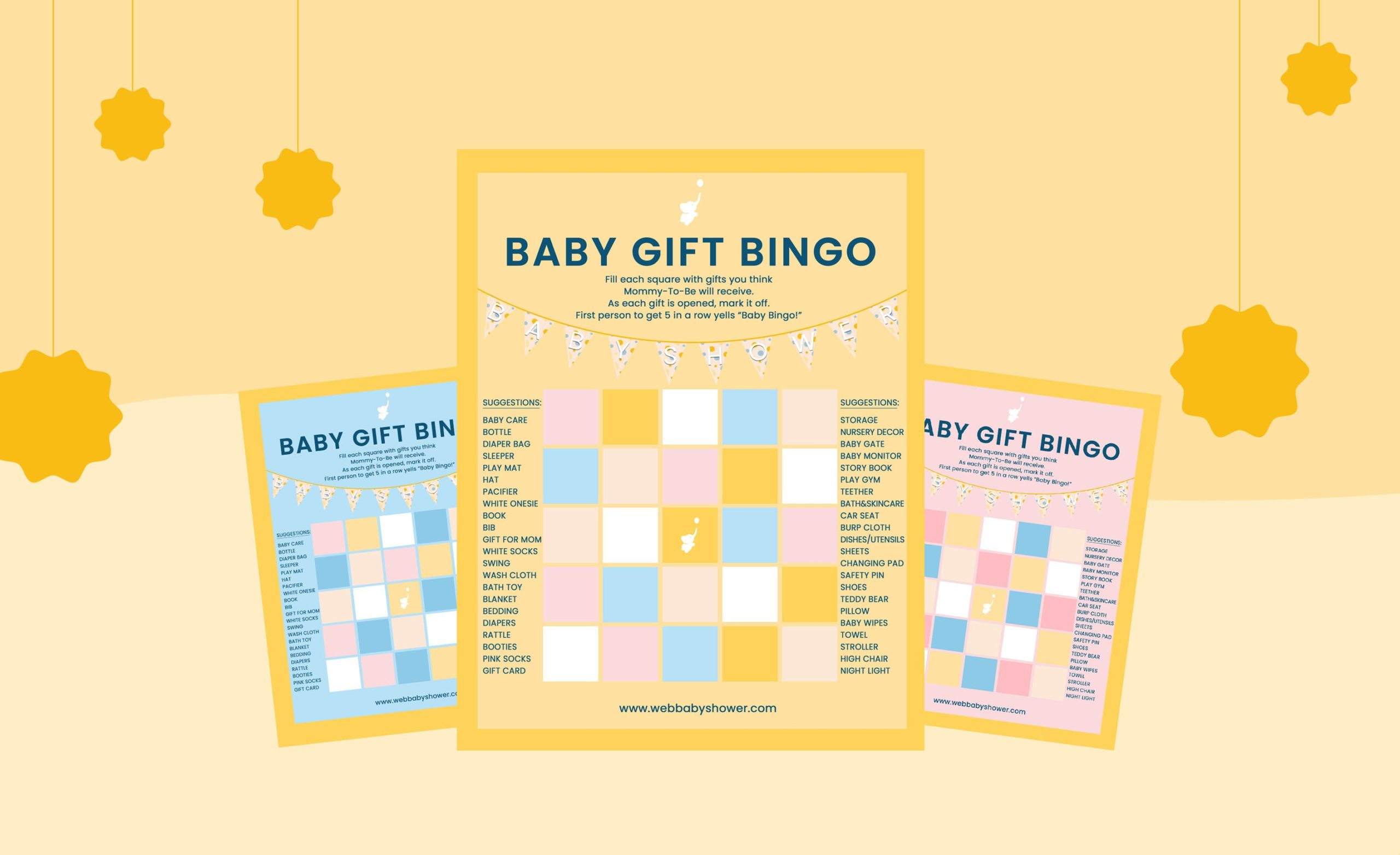 WebBabyShower Bingo Games Header Image