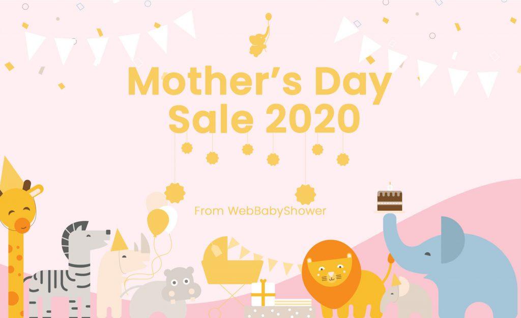 WebBabyShower Header Image Mothers Day Safari PInk