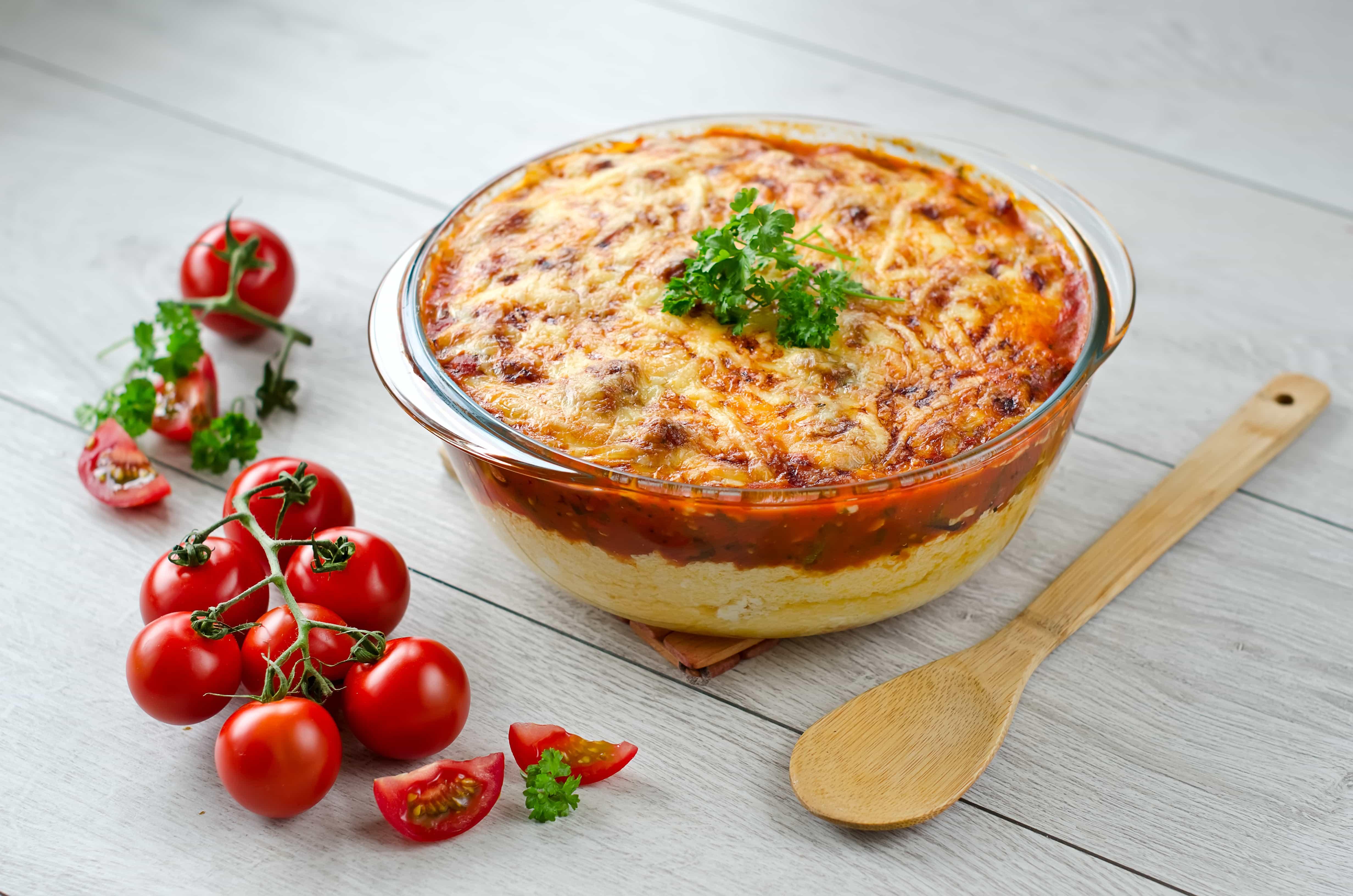 WebBabyShower Parmesan Tomato Corn Pie