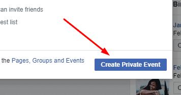 fbevent createprivate   Facebook Baby Shower   WebBabyShower