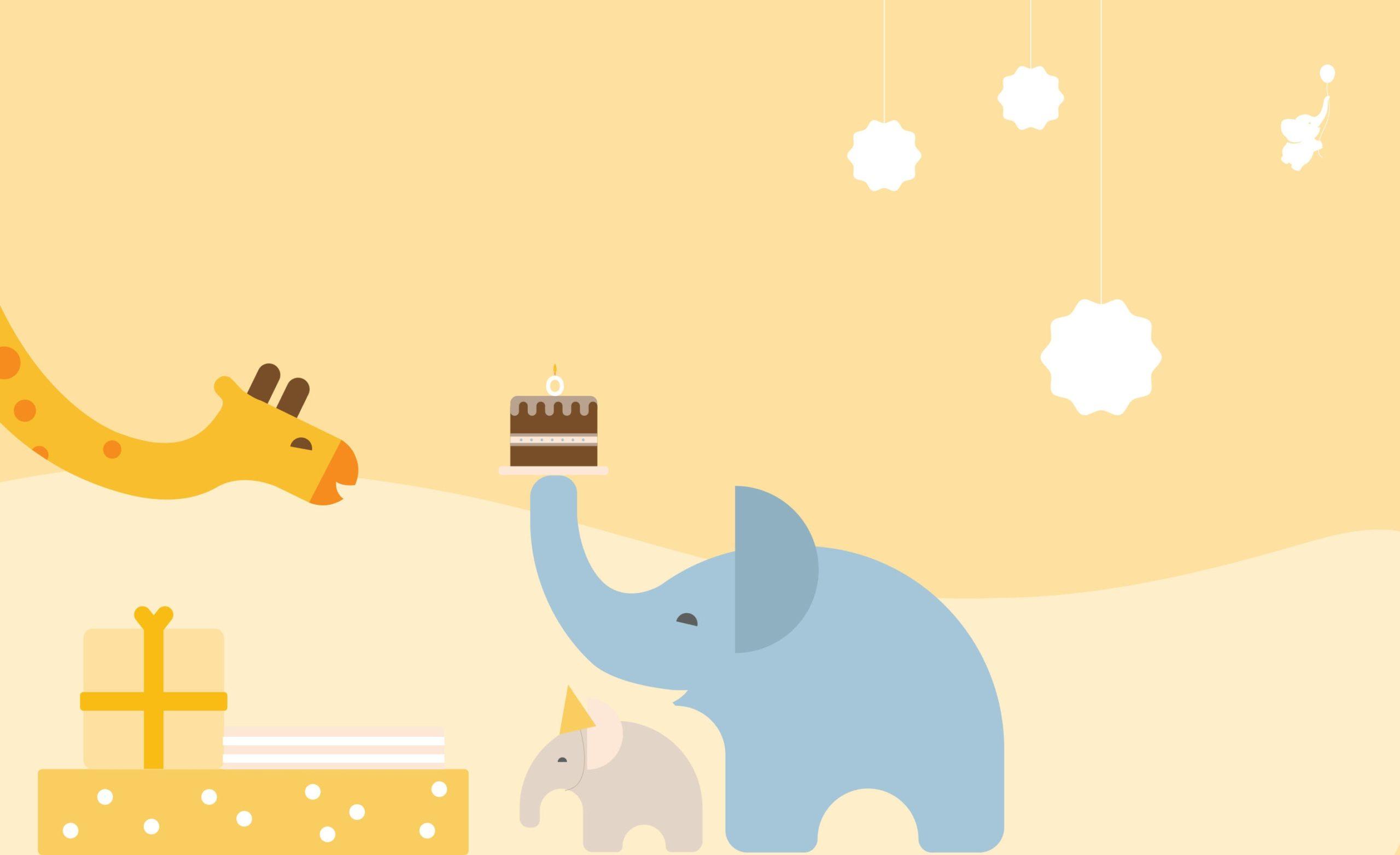 WebBabyShower Gifts Elephant Giraffe