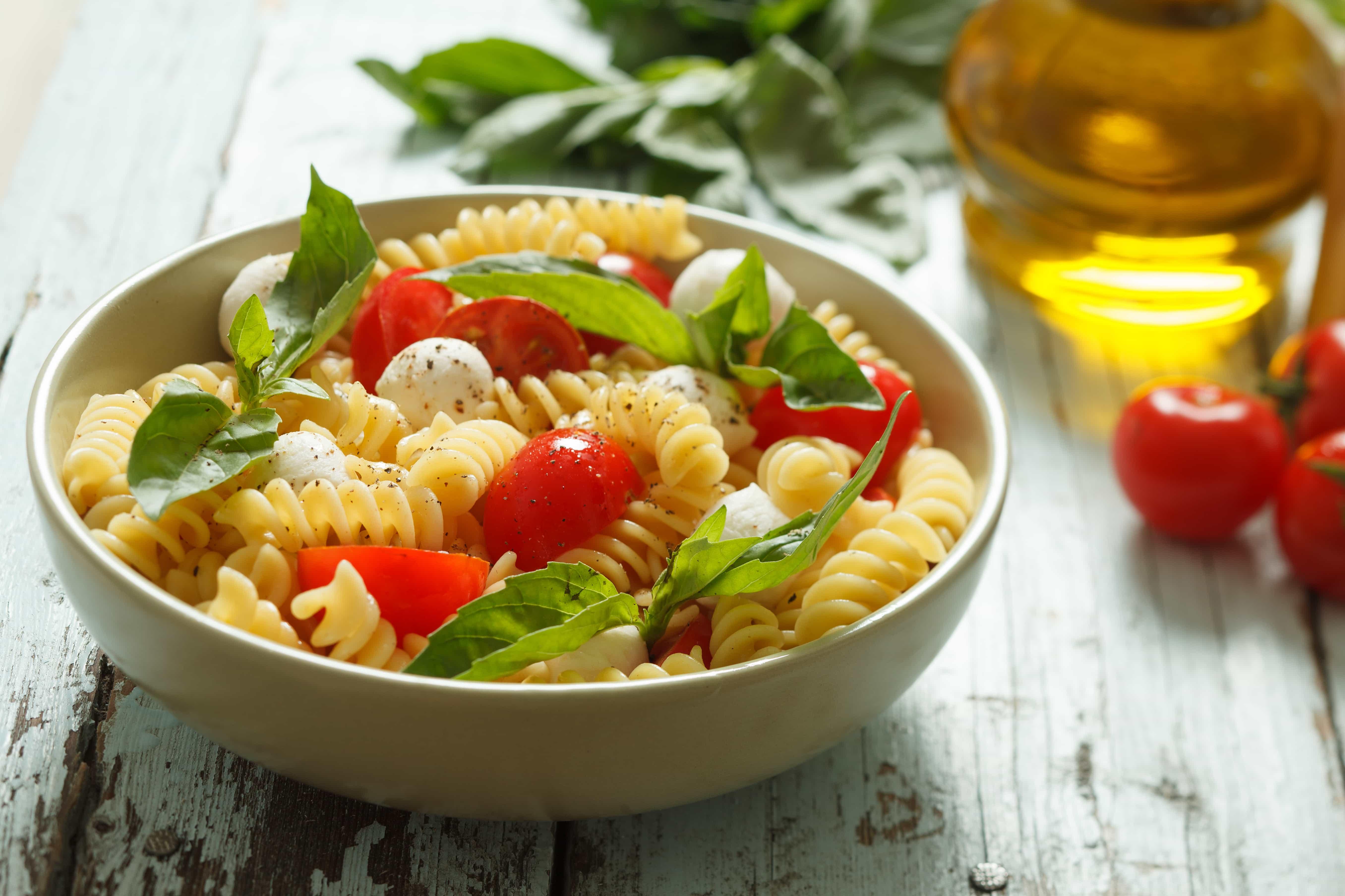 WebBabyShower Pasta Salad Tomato Mozzarella