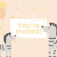 WebBabyShower header zebra Baby Shower Invitation Wording