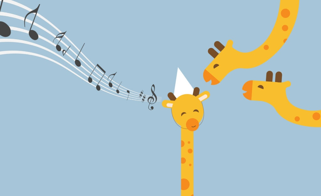 webbabyshower giraffe with notes