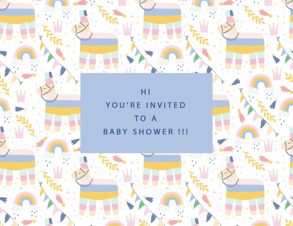 webbabyshower lama invitation
