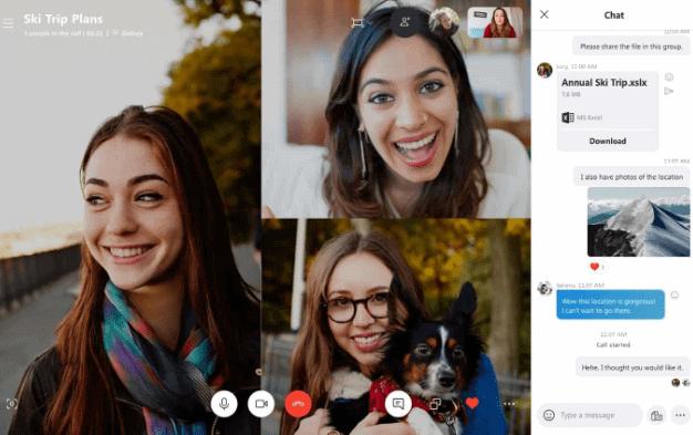 webbabyshower skype video chat
