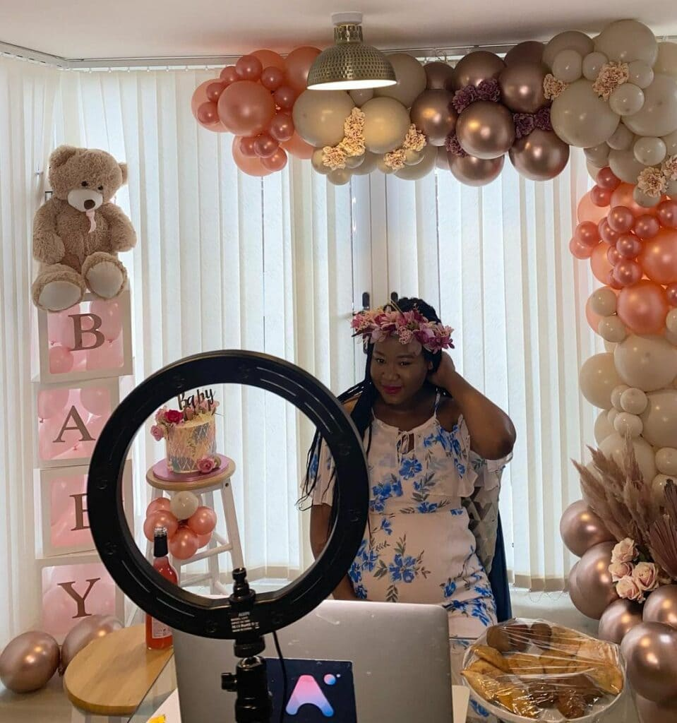 covid baby shower video chat