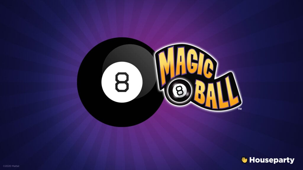 webbabyshower houseparty magic 8 ball game play online with friends using the app