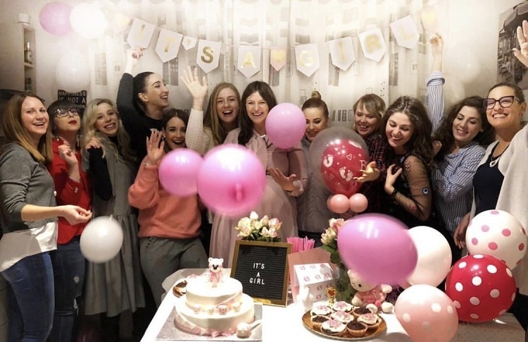 gender reveal and baby shower party