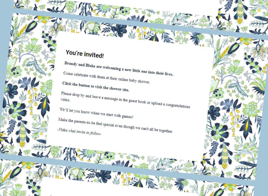 webbabyshower invite floral tea time