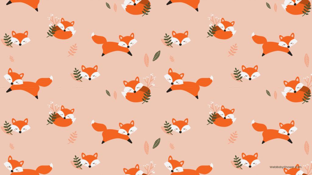 webbabyshower foxes baby shower backgrounds