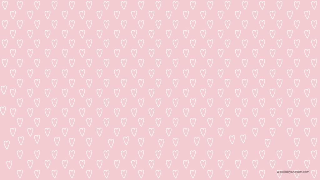 webbabyshower pink heart baby shower backgrounds