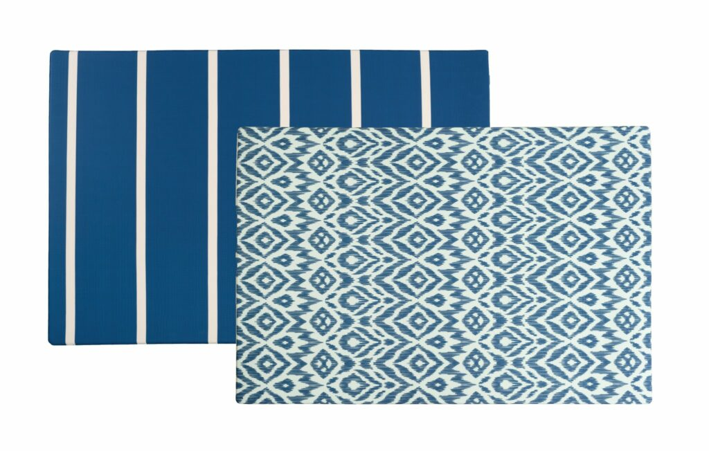 webbabyshower blue stripe play mat from wander and roam