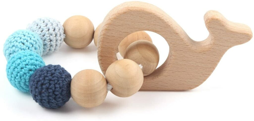 webbabyshower organic teething ring from hi baby moment