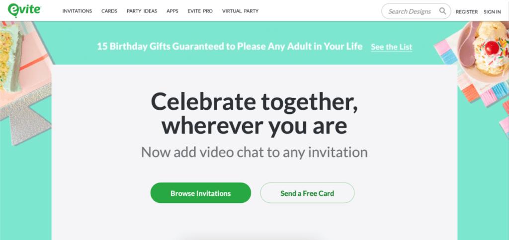 webbabyshower evite baby shower website