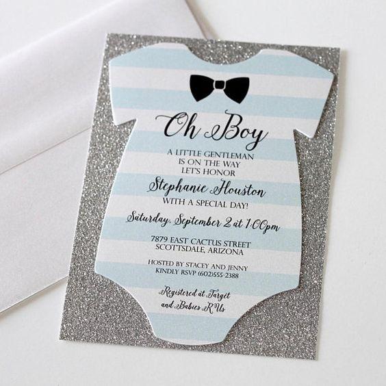 mothers day baby shower onesie invite