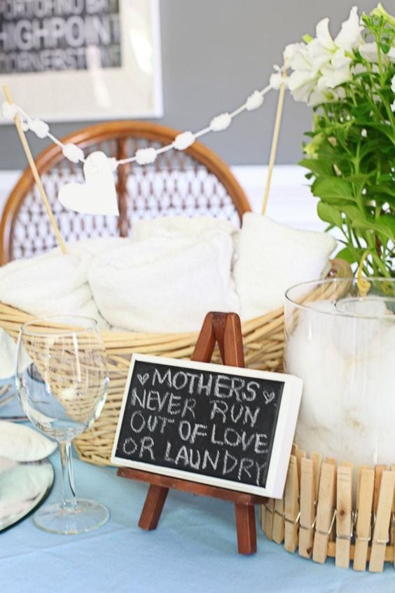 mothers day baby shower laundry