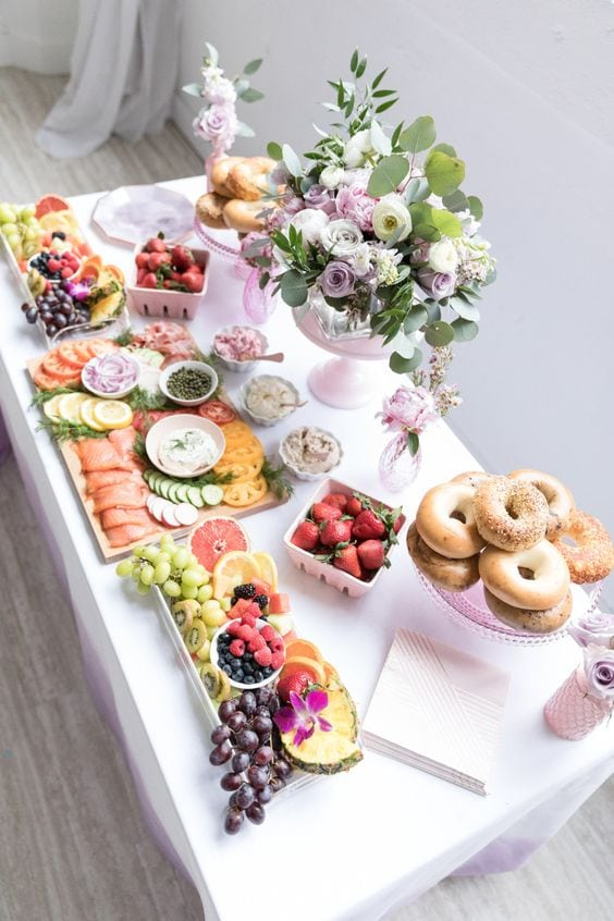 mothers day baby shower mimosas bar
