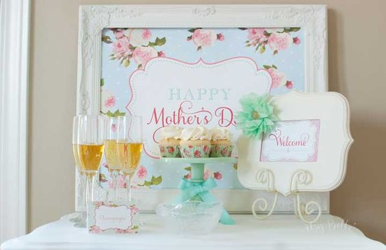 mothers day baby shower spa party
