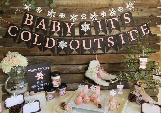 winter baby shower bunting