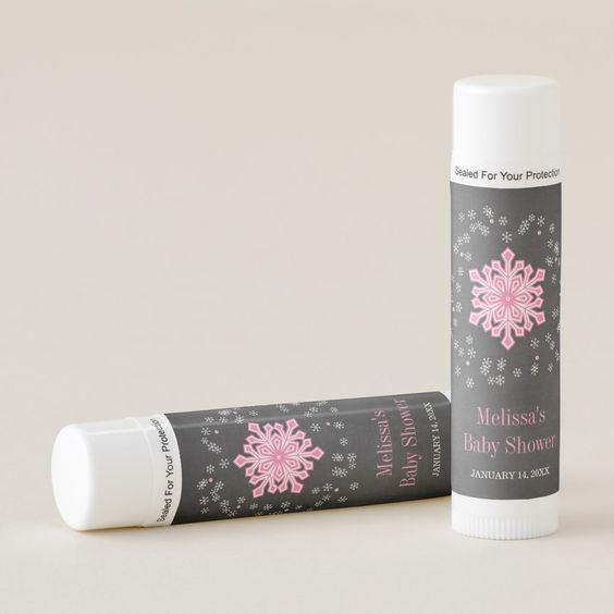 winter baby shower lip balm