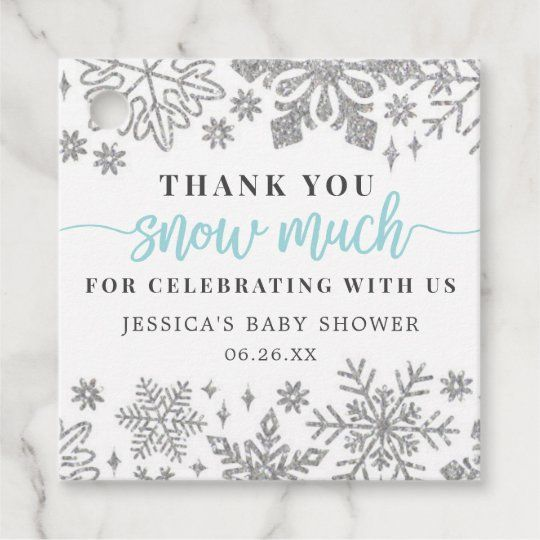 winter baby shower favor tag