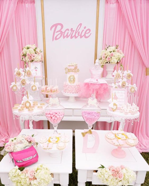 baby shower themes barbie