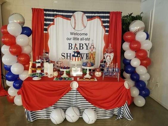 baby shower themes baseball