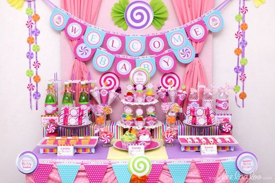 baby shower themes candyland