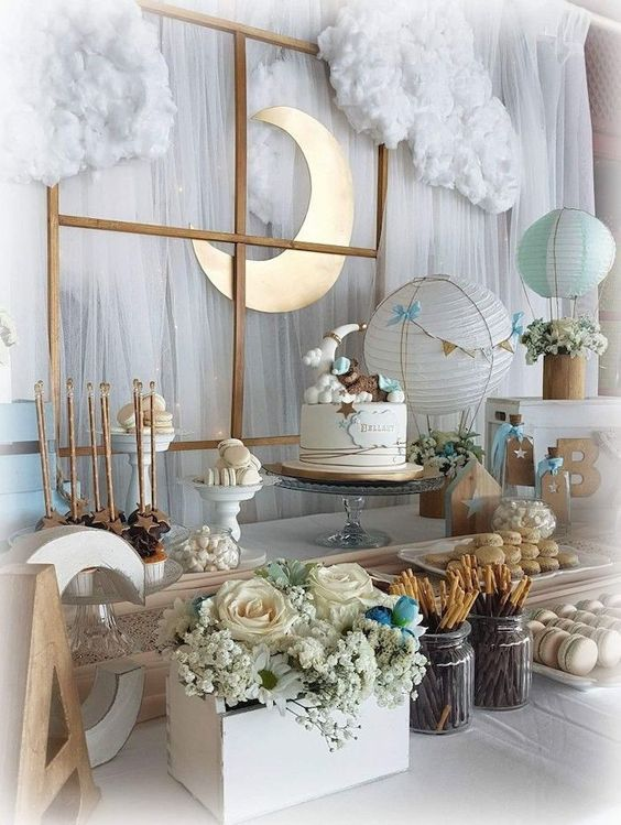 baby shower themes moon