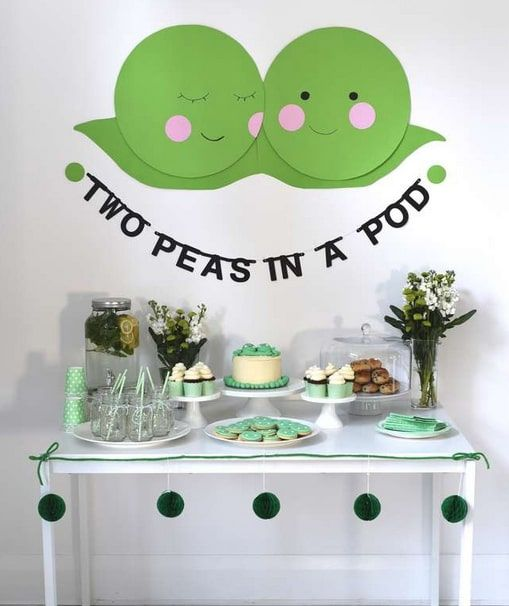 baby shower themes two peas